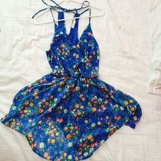Floral summer dress Bought from Nordstrom, NWOT never worn! Lined so it's not see through top layer is chiffon Lush Dresses