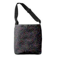 Colorful Black Tote Bag Portland Oregon Bikes - accessories accessory gift idea stylish unique custom