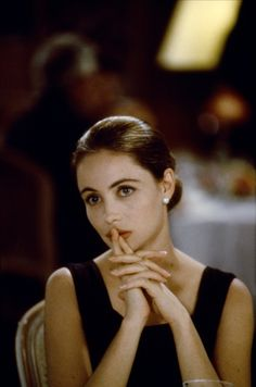 Emmanuelle Béart in the 1995 Claude Sautet film Nelly and Monsieur Arnaud.