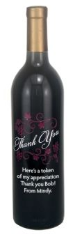 Etched Wine Bottles - Appreciation Gifts