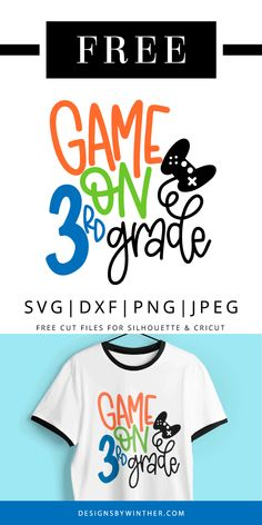 Free Svg Cut Files, Svg Files For Cricut, Letter School, Cute Games, Going Back To School, School Shirts, Hand Lettering, Diy Projects, Clip Art