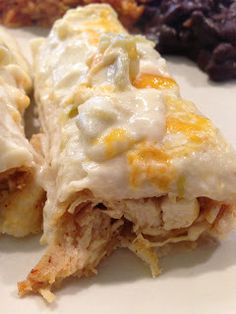 Sour Cream Chicken Enchiladas - super delicious and filling - mine yielded 8 servings. I used light sour cream - 384.5 Calories/Serving