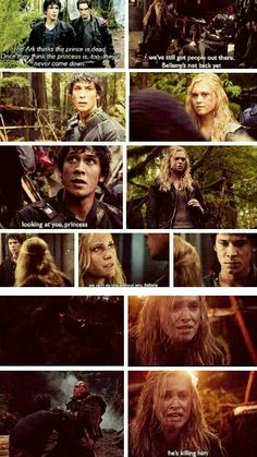 Bellamy and Clarke from CW's The 100. The season finale was amazing...but I couldn't enjoy a lot of the Bellarke moments, because I was WAY TOO WORRIED. Gosh, I love how far these two have come. |The 100||CW||Clarke and Bellamy||#Bellarke||TV Shows|