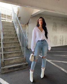 H&M Wide-cut Viscose Blouse Casual Teaching Outfits Cute Casual Outfits, Stylish Outfits, Casual Wear, Casual Chic, Stylish Eve, Casual Attire, Fashion 2020, Look Fashion, Unique Fashion