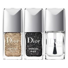 Dior 'Sparkling Nail Powders' Set (165 BRL) ❤ liked on Polyvore featuring beauty products, nail care, nail polish, makeup, nails, beauty, fillers, backgrounds, embellishment and detail