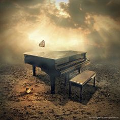 the piano by Even Liu Surrealism Photography, Art Photography, Pics Art, Art Pictures, Cello, International Photography Awards, Arte Pop, Relaxing Music, Calming Music