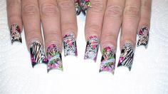 Ed Hardy Mix by GrlDuzNailz - Nail Art Gallery nailartgallery.nailsmag.com by Nails Magazine www.nailsmag.com #nailart