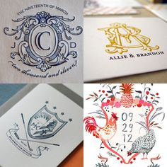 maybe instead of a formal crest we could just do an interlocking monogram of E and W   {Tuesday Trends} Crests « soigné