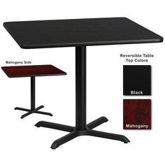 Flash Furniture 36 Inch Square Dining Table W Black Or Mahogany Reversible  Laminate Top * Check