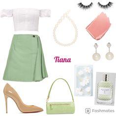 Shop this look. Princess Shot, Disney Princess Tiana, Disney Princess Outfits, Disney Bound Outfits, Cruise Outfits, Princess Style, Tangled Princess, Princess Merida, Modern Princess Outfits