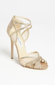 91dfe3d49f9 Jimmy Choo sparkle gold heels Chaussures Jimmy Choo