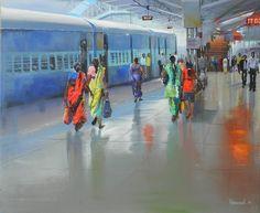 Platform No. 1 Bilaspur by Bijay Biswal