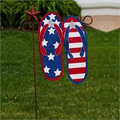decorative outside flags