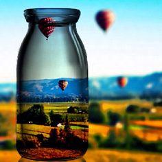 Hot air balloon ride above Napa Valley. A beautiful experience.