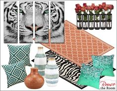 White Tiger Large Canvas Wall Art Set, 4 Panels The wild side is elegant and impressive in this 4 canvas panel, white tiger wall art set. Teal Home Decor, Home Design Decor, Home Wall Decor, Cheap Artwork, Tiger Artwork, White Bathroom Decor, Large Canvas Wall Art, Home Goods Decor, Living Room Art