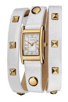 pyramid stud wrap watch