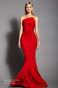Romona Keveza Luxury RTW Collection Style – idee per l'abito da sera Evening Dresses, Prom Dresses, Formal Dresses, Beautiful Gowns, Beautiful Outfits, Red Fashion, Fashion Dresses, Long Mermaid Dress, Costura Fashion