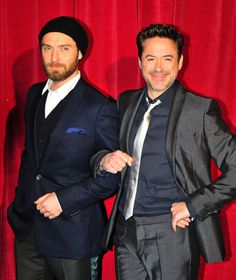 RDJ & Jude Law -  I cannot WAIT to see the next Sherlock Holmes movie!!