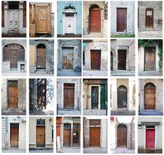 Typology of doors by giraffe2605, via Flickr