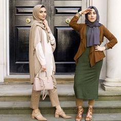 They are so cute machallah Islamic Fashion, Muslim Fashion, Modest Fashion, Unique Fashion, Girl Fashion, Couple Outfits, Modest Outfits, Stylish Outfits, Hijab Style