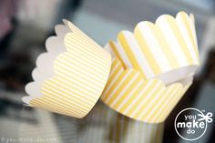Cupcake wrapper printables! Make these yourself to match your wedding colors or a baby shower or birthday party theme—they come in many pretty colors. Or, bake some muffins to use them any day.  #party #babyshower #birthday #printables