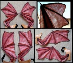 These is the Wings that I've made for a Succubus, interpreted by Laura Cortes. She help me for made them quicker. These are for a costume devellop for perform. For Monstrifera : you can see old pic...
