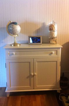 Old cabinet painted white