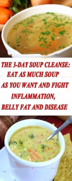 The Soup Cleanse: Eat as Much Soup as You Want And Fight Inflammation, Belly Fat And Disease keto detox soup Healthy Detox, Healthy Life, Healthy Living, Healthy Beauty, Easy Detox, Stay Healthy, Detox Recipes, Healthy Recipes, Juice Recipes