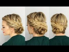 Fishtail Braided Updo - YouTube
