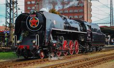 Skoda 475 196 Steam locomotive at Pardubice Station, Czech Repubkic Prague Spring, T Power, Steam Locomotive, Paddle, Transformers, Techno, Diesel, Automobile, Around The Worlds