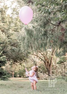 Milestone photography, first birthday, outdoors, pink balloon, girl Birthday Girl Pictures, First Birthday Photos, Wild One Birthday Party, Baby Girl 1st Birthday, Outdoor Cake Smash, First Birthday Photography, 1st Birthday Photoshoot, Smash Cake Girl, Girl Photo Shoots