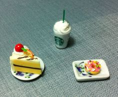 Hey, I found this really awesome Etsy listing at https://www.etsy.com/listing/156436532/dessert-set-miniature-clay-polymer-fruit