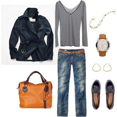 """""""Navy Trench"""" by bluehydrangea on Polyvore"""