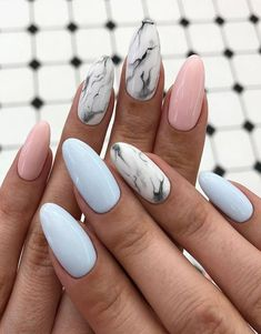 Here we have collected some Wonderful Ideas of Nail Art for those girls and ladies who want to change the Manicure style in these days. Because stylish girls and ladies want to get the more attractive look when they going to any special event or festival. Marble Nail Designs, Nail Art Designs, Nail Manicure, My Nails, Nail Polish, Water Nails, Nail Art Images, Fire Nails, Best Acrylic Nails