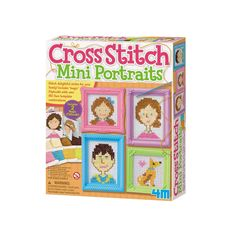 Take a look at this Cross Stitch Mini Portraits Craft Set today! Face Template, Miniature Portraits, Nyc, Sewing Kit, Baby Disney, Craft Kits, Craft Projects, Toys For Girls, Canvas Frame