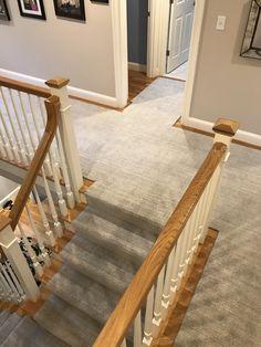 Stair Carpet Runners - The Carpet Workroom Best Carpet For Stairs, Carpet Stairs, House With Balcony, Hardwood Floors, Flooring, New England Homes, Custom Rugs, Carpet Runner, Rugs On Carpet