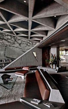 1963 Sheats House - John Lautner #MidCenturyModern #Architecture #Lautner