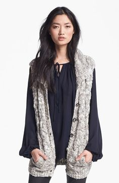 L'AGENCE Marble Knit Sweater Vest available at #Nordstrom