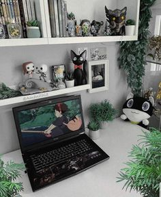 Cute Room Ideas, Cute Room Decor, Room Ideas Bedroom, Bedroom Decor, Kawaii Bedroom, Otaku Room, Gaming Room Setup, Game Room Design, Gamer Room