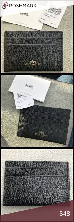 """Coach card holder COACH card holder 4""""x 3"""". Holds two cards on each side. Brand new. Never used. Coach Accessories Key & Card Holders"""