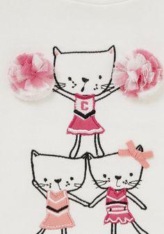 F&F Dream Team Pom Pom Sweatshirt   Baby Girls   F&F