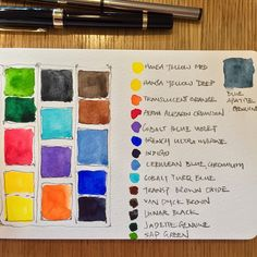 Paul Wang: Starting a brand new sketchbook with a cooour swatch of my small travel palette. #watercolor #watercolour #watercolorist #urbansketchers