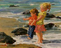 "Galleries in Carmel California- Jones & Terwilliger - Corinne Hartley  ""Tender Boy Caring"""