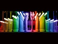 """Urban Rainbow Lights"" at the Los Angeles County Museum of Art"
