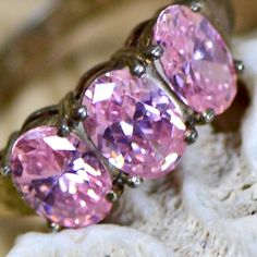 gorgeous vintage sterling silver ring with pink by CoolVintage, $35.50