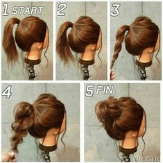 and fast hairstyles for medium hair . Easy and fast hairstyles for medium hair .Easy and fast hairstyles for medium hair . Classy Updo Hairstyles, Latest Short Hairstyles, Fast Hairstyles, Easy Hairstyles For Long Hair, Hairstyle Ideas, Simple Hairdos, Hairstyle Tutorials, Hair Ideas, Hairstyles 2018