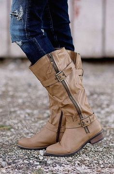 Strap & Buckle Riding Boots! | Jane