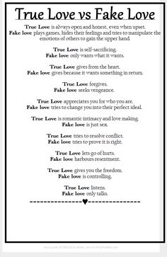 Narcissists=fake love