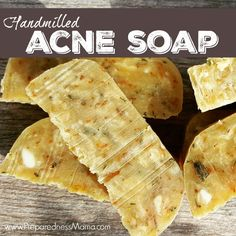 Hand-milled acne soap is easy to make with store bought soap and dried herbs. You'll be scrubbing up in a few hours | PreparednessMama