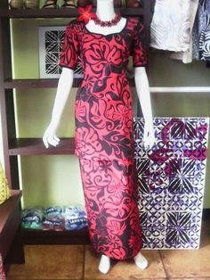 Island Wear, Island Outfit, Long Dresses, Short Sleeve Dresses, Summer Dresses, Ethnic Fashion, African Fashion, Samoan Dress, Island Design